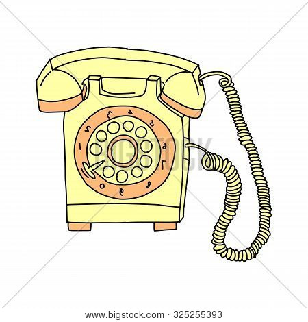 Vintage telephone retro rotary plate Antique phone Old phone Retro phone Rarity telephone Vintage phone Antique telephone Rarity phone icon black color vector illustration flat style simple image 45 stock photo