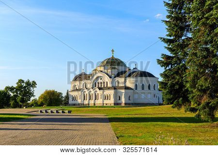 Saint Nicholas Garrison church in Brest fortress, Belarus. stock photo