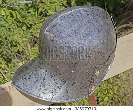 the combat equipment of the ancient Roman stock photo