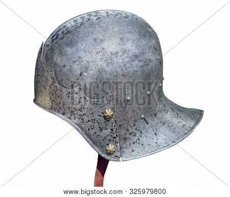 combat equipment of the ancient Roman on white background stock photo