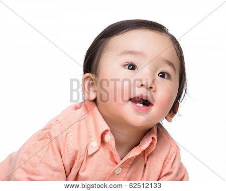 Asian baby boy smile stock photo