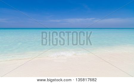 Dreamlike beach in Cuba with turquoise water stock photo