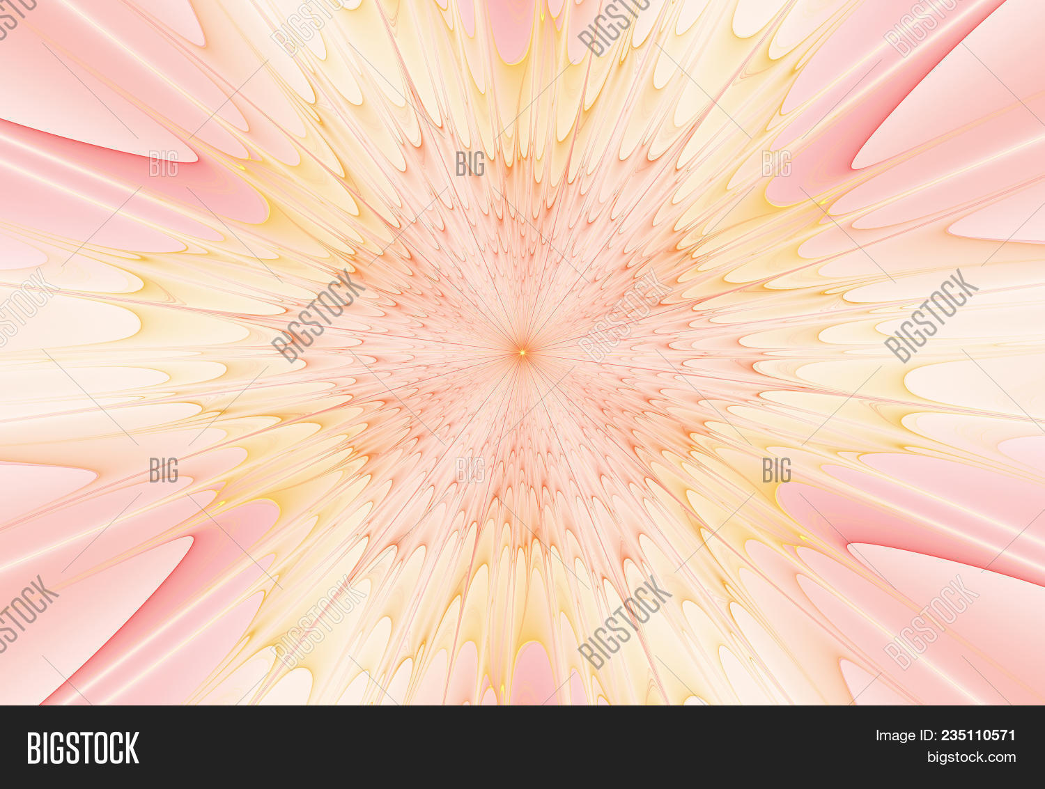 Beautiful Fractal Abstract Explosion Star Illustration Red And Yellow Background Fractal Explos 235110571 Image Stock Photo