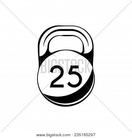 Kettlebell icon. Sport symbol. Fitness icon Vector illustration stock photo