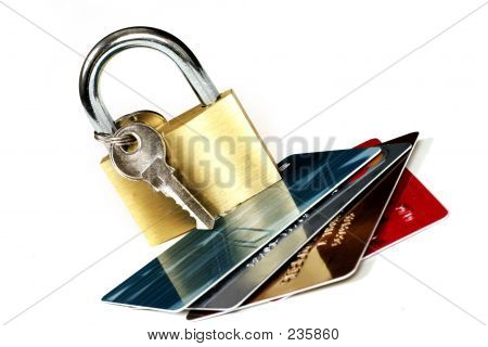 cards and padlock