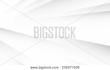Abstract White Background With Layers Shadows Texture. White Or Light Grey Gradient Background For B