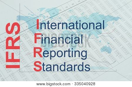 IFRS - International Financial Reporting Standards. Business acronym stock photo