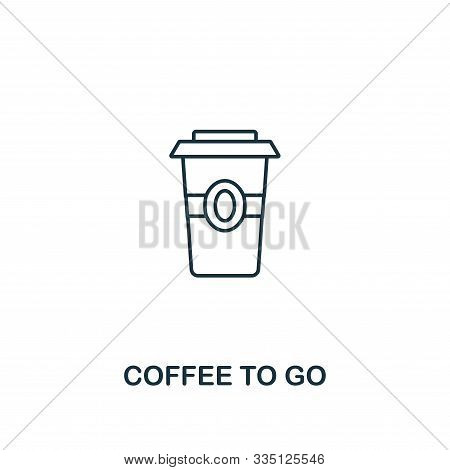 Coffee To Go icon. Thin line symbol design from coffe shop icon collection. UI and UX. Creative simple coffee to go icon for web and mobile stock photo