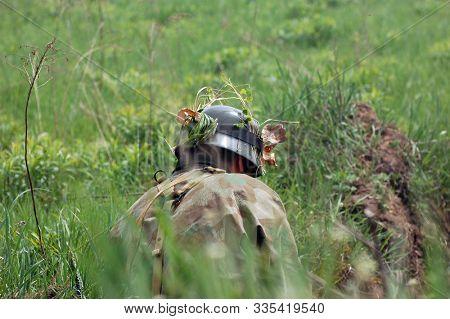 German  infantry soldier In World War II stock photo