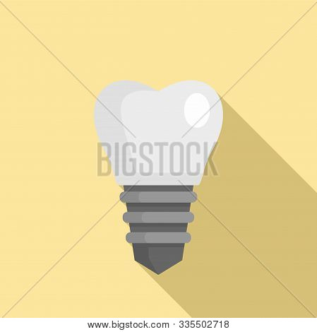 Implant tooth icon. Flat illustration of implant tooth vector icon for web design stock photo