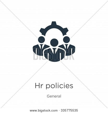 Hr policies icon vector. Trendy flat hr policies icon from general collection isolated on white background. Vector illustration can be used for web and mobile graphic design, logo, eps10 stock photo