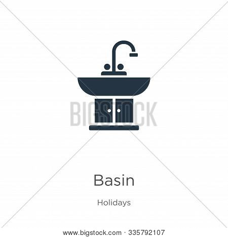 Basin icon vector. Trendy flat basin icon from holidays collection isolated on white background. Vector illustration can be used for web and mobile graphic design, logo, eps10 stock photo