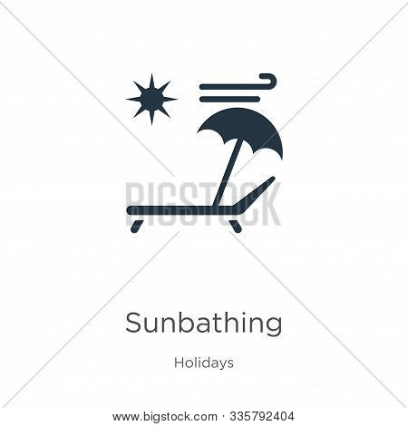 Sunbathing icon vector. Trendy flat sunbathing icon from holidays collection isolated on white background. Vector illustration can be used for web and mobile graphic design, logo, eps10 stock photo