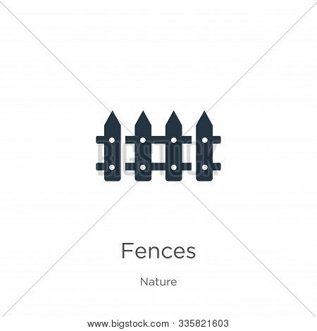Fences icon vector. Trendy flat fences icon from nature collection isolated on white background. Vector illustration can be used for web and mobile graphic design, logo, eps10 stock photo