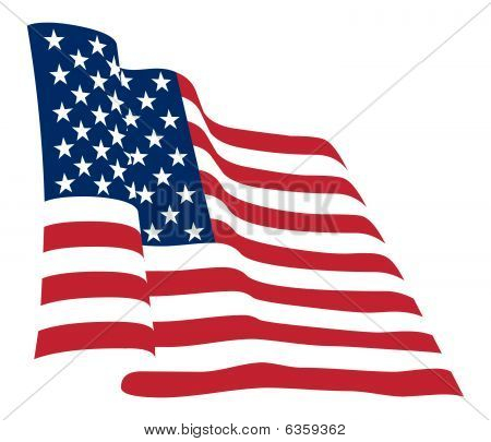 American flag background fully editable vector illustration stock photo