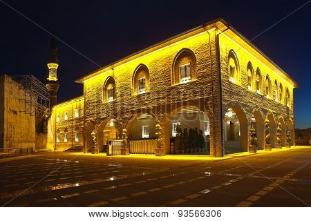 Haci Bayram Mosque is the oldest mosque in Ankara, while maintaining its Seljuk way for several centuries. It opened in 1427-1428 years. stock photo