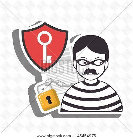 confidencial segurity information doc vector illustration eps 10 stock photo