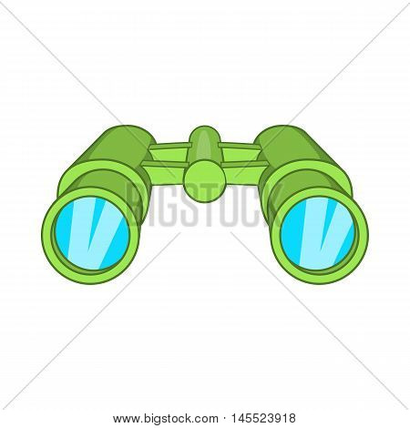 Binoculars icon in cartoon style on a white background stock photo