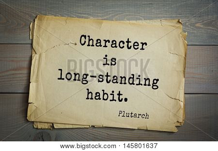 short essay on character is a long standing habit