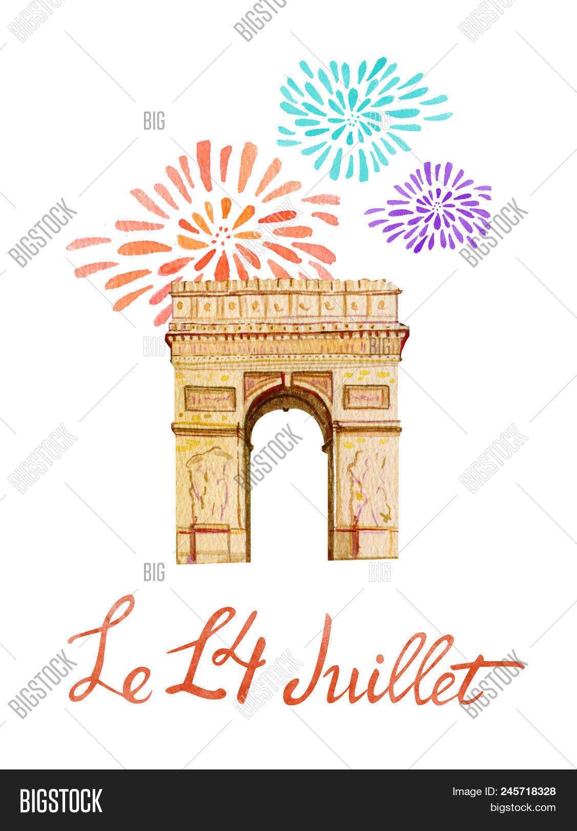 Bastille Day Text 14th Of July French National Day Greeting