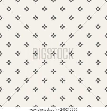 Abstract seamless geometric dots pattern. Modern stylish texture. Regularly repeating groups of dots. Geometric pointillist texture. Vector simple background. Illustration in speckled, halftone style. stock photo