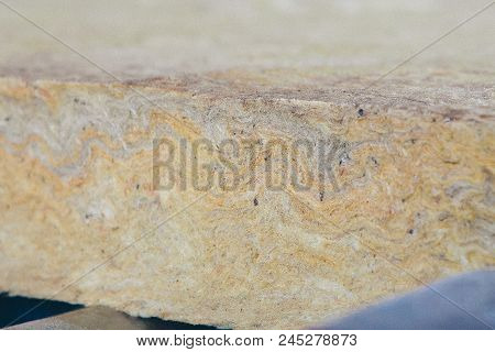 The texture of mineral wool for insulating the walls stock photo