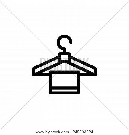 Towel vector icon on white background. Towel modern icon for graphic and web design. Towel icon sign for logo, website, app, ui. Towel flat vector icon illustration, EPS10 stock photo