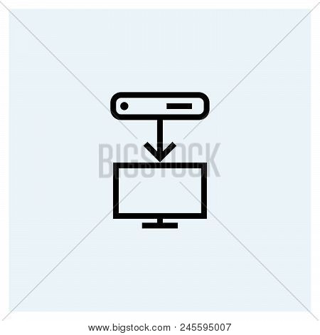 Download icon vector icon on white background. Download icon modern icon for graphic and web design. Download icon icon sign for logo, website, app, ui. Download icon flat vector icon illustration, EPS10 stock photo
