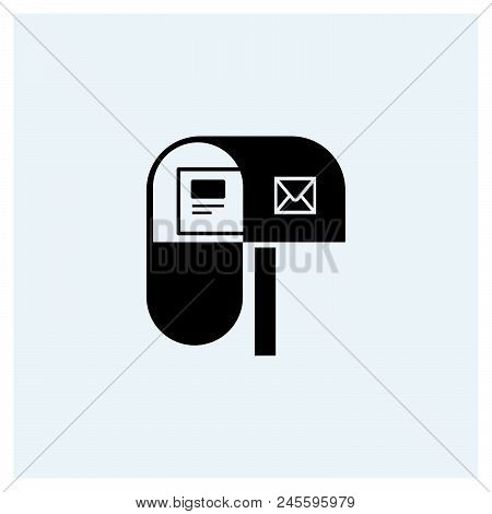 Mail box icon vector icon on white background. Mail box icon modern icon for graphic and web design. Mail box icon icon sign for logo, website, app, ui. Mail box icon flat vector icon illustration, EPS10 stock photo