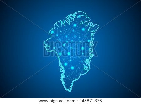 Abstract mash line and point scales on dark background with Map of gabon. Wire frame 3D mesh polygonal network line, design sphere, dot and structure. communications map of gabon. Vector. stock photo