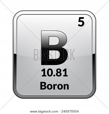 Boron Symbolemical Element Of The Periodic Table On A Glossy