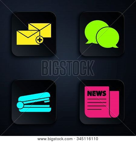 Set Alarm clock with dollar symbol, Target and Office folders with papers and documents icon. Vector stock photo