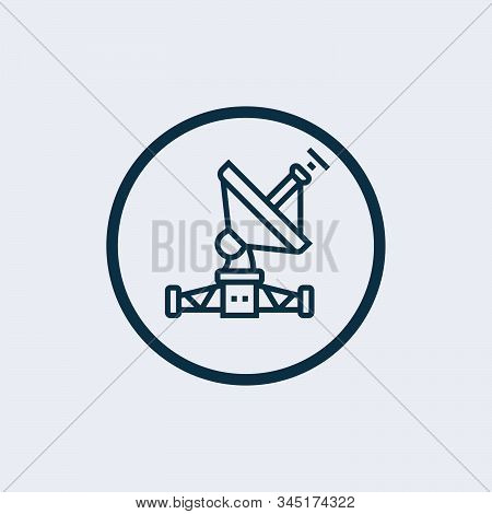 Satellite dish icon isolated on white background. Satellite dish icon simple sign. Satellite dish icon trendy and modern symbol for graphic and web design. Satellite dish icon flat vector illustration for logo, web, app stock photo