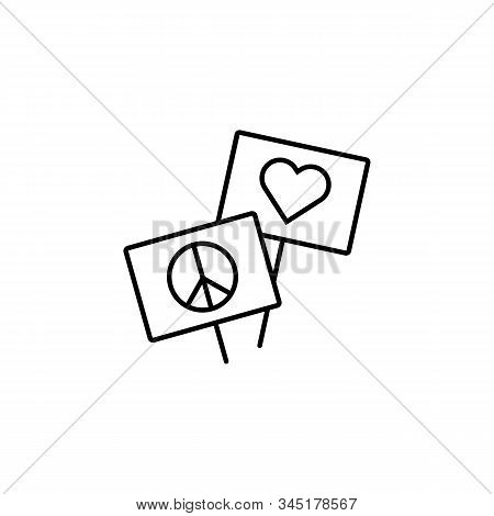 banner, protest, activism line icon. Elements of protests illustration icons. Signs, symbols can be used for web, logo, mobile app, UI, UX stock photo