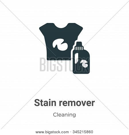 Stain remover vector icon on white background. Flat vector stain remover icon symbol sign from modern cleaning collection for mobile concept and web apps design. stock photo