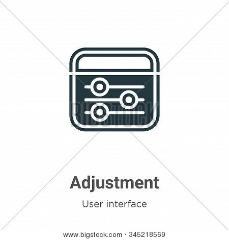 Adjustment vector icon on white background. Flat vector adjustment icon symbol sign from modern user interface collection for mobile concept and web apps design. stock photo