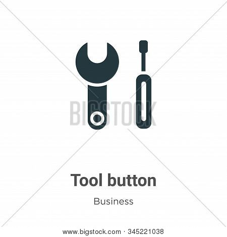 Tool button vector icon on white background. Flat vector tool button icon symbol sign from modern business collection for mobile concept and web apps design. stock photo
