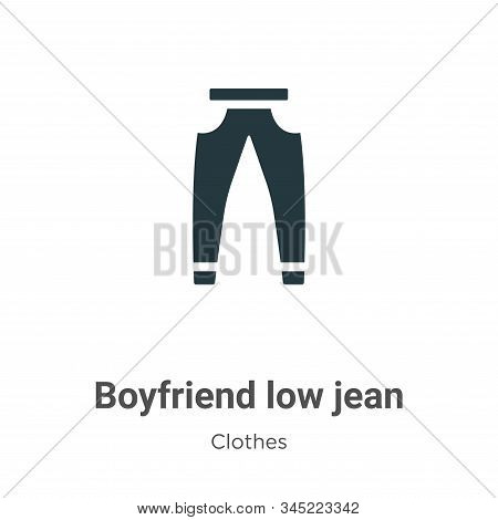 Boyfriend low jean vector icon on white background. Flat vector boyfriend low jean icon symbol sign from modern clothes collection for mobile concept and web apps design. stock photo