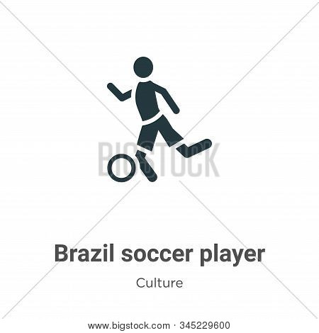 Brazil soccer player vector icon on white background. Flat vector brazil soccer player icon symbol sign from modern culture collection for mobile concept and web apps design. stock photo