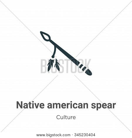 Native american spear vector icon on white background. Flat vector native american spear icon symbol sign from modern culture collection for mobile concept and web apps design. stock photo