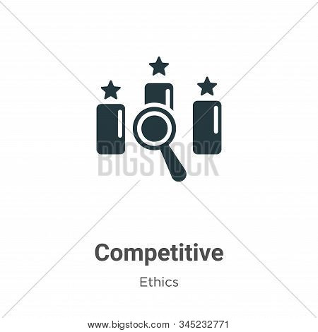 Competitive vector icon on white background. Flat vector competitive icon symbol sign from modern ethics collection for mobile concept and web apps design. stock photo