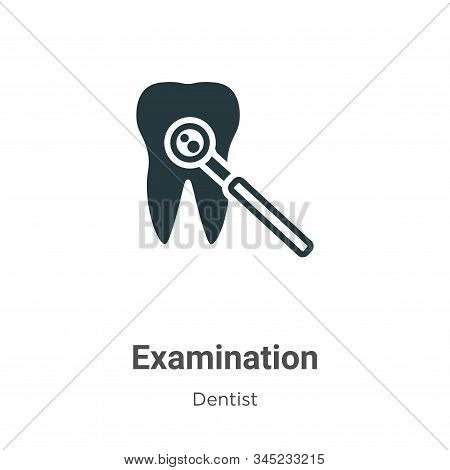 Examination vector icon on white background. Flat vector examination icon symbol sign from modern dentist collection for mobile concept and web apps design. stock photo