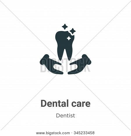 Dental care vector icon on white background. Flat vector dental care icon symbol sign from modern dentist collection for mobile concept and web apps design. stock photo