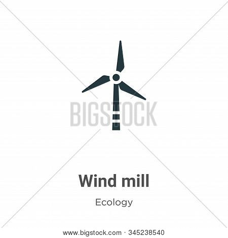 Wind mill vector icon on white background. Flat vector wind mill icon symbol sign from modern ecology collection for mobile concept and web apps design. stock photo