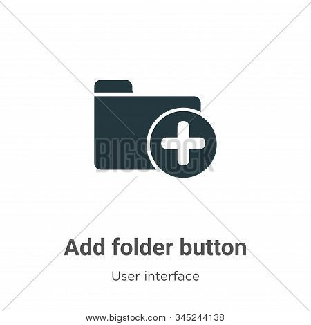Add folder button vector icon on white background. Flat vector add folder button icon symbol sign from modern user interface collection for mobile concept and web apps design. stock photo