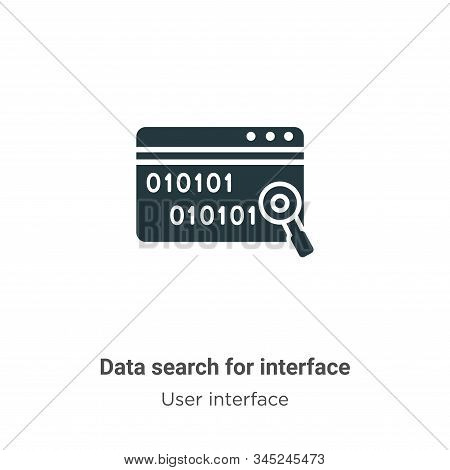 Data search for interface vector icon on white background. Flat vector data search for interface icon symbol sign from modern user interface collection for mobile concept and web apps design. stock photo