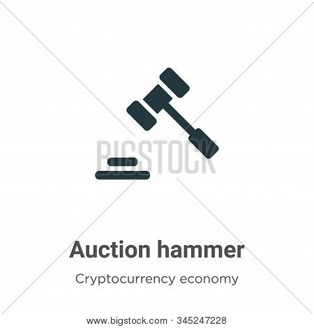 Auction hammer vector icon on white background. Flat vector auction hammer icon symbol sign from modern cryptocurrency economy and finance collection for mobile concept and web apps design. stock photo
