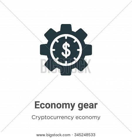 Economy gear vector icon on white background. Flat vector economy gear icon symbol sign from modern cryptocurrency economy and finance collection for mobile concept and web apps design. stock photo