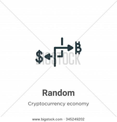 Random vector icon on white background. Flat vector random icon symbol sign from modern cryptocurrency economy and finance collection for mobile concept and web apps design. stock photo
