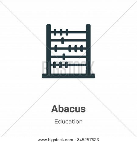 Abacus vector icon on white background. Flat vector abacus icon symbol sign from modern education collection for mobile concept and web apps design. stock photo